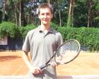 Paweł na treningu tenisowym