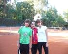 Na treningu tenisowym