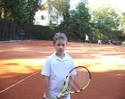 Paweł na tenisie