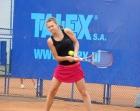 Agnieszka na turnieju tenisowym